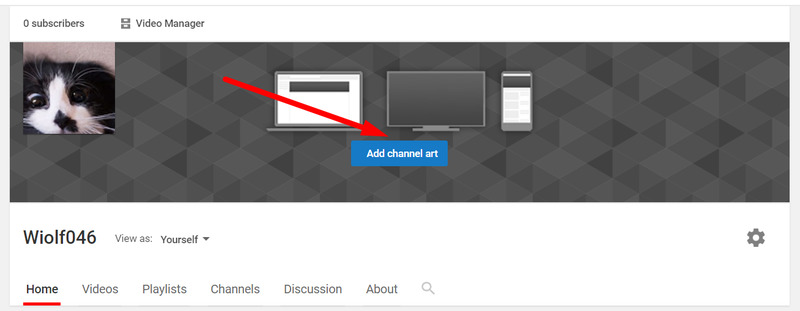 How to add channel art